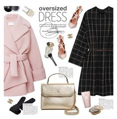 """lanvin oversized dress"" by jesuisunlapin ❤ liked on Polyvore featuring Lanvin, Carven, Kate Spade, Plush, Baci, Valentino, La Perla, Nails Inc., Gucci and Chanel"