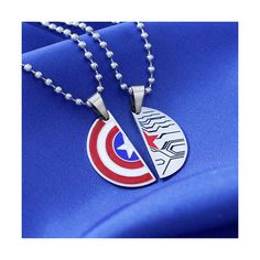STUCKY Necklace Winter Soldier Captain America Friendship/Soul mate... ($21) ❤ liked on Polyvore featuring jewelry, necklaces, star necklace, stainless steel necklace, adjustable necklace, stainless steel jewelry and stainless steel pendant necklace