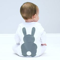 Bunny Rabbit Baby Sleepsuit. Our gorgeously soft bunny sleepsuits feature our cute rabbit! They make a great gift for your new baby @halotee