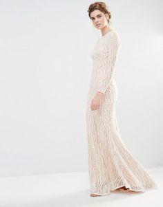 vestidos largos con encaje arriba