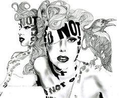 Lady Gaga pencil portrait