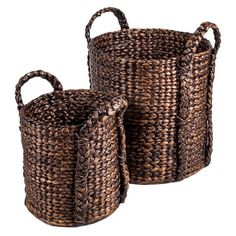Love these! - Pueblo Basket Set - great for setting putting a real plant/tree in to hide an ugly pot.