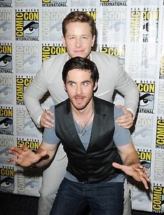 Once Upon a Time Cast - Josh Dallas (Prince Charming aka David Nolan) and Colin O'Donoghue (Captain Hook). #OnceUponATime #OUAT #TV_Show