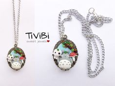 Totoro and Kodama necklace by TiViBi on Etsy