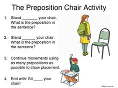 FREE PREPOSITION LESSONS~  Slideshow, active learning approach, word list, and more.  Great resource for teaching about prepositions and prepositional phrases.