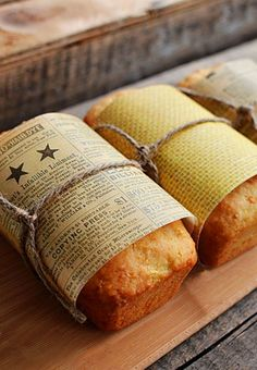 Creative way to package your fresh bread as a gift!