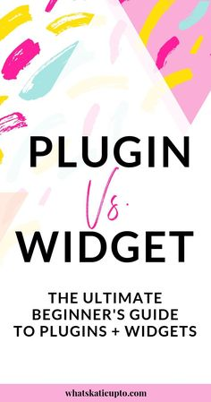 """The Difference between a WordPress """"Widget"""" and """"Plugin"""" – Finance tips for small business Wordpress For Beginners, Learn Wordpress, Site Wordpress, Wordpress Website Design, Wordpress Template, Wordpress Plugins, Blogging For Beginners, Wordpress Admin, Blog Tips"""