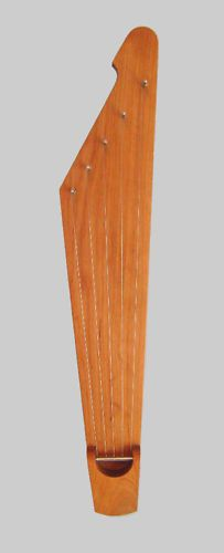 Traditional 5 string kantele, Handmade in Finland by Melodia Soitin Interesting end shape