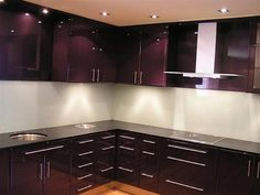 Modern Kitchen Backsplash Ideas | ... Kitchen Backsplash With Mahogany Kitchen Cabinet Set Design Ideas
