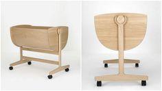 Nanna Ditzel designer vugge relanceres Baby Furniture Sets, Kids Furniture, Baby Bedroom, Mid Century Furniture, Furniture Collection, Kids And Parenting, Bassinet, Space Saving, Kids Playing