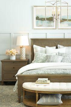 Buffalo check bedding in spa