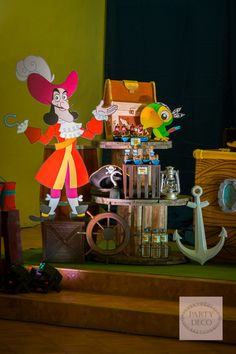 Dylan's Jake and the Never Land Pirates-Themed Party – Stage Setup / Dessert Spread