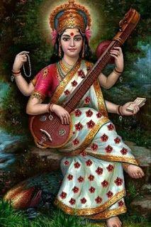 God number 25 goddess of knowledge and music and wife of Brahma saraswati devi Jai Maa Saraswati, Saraswati Goddess, Saraswati Photo, Kali Shiva, Orisha, Indian Goddess, Lord Vishnu Wallpapers, Hindu Deities, God Pictures