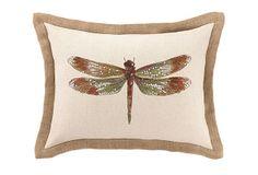 CLOUD9 | Dragonfly 14x18 Pillow, Green | linen | down insert | 60.00 retail