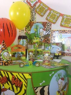 The flintstones bambam happy birthday party pack decoraion supplies #BirthdayAdultandchild