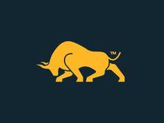 Dribbble - Silver Gold Bull - Mark by James Scott