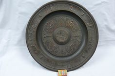 großer runder Historismus-Wandteller ,Kupfer, mit mytholigischen Szenen um 1870