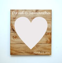Rustic Solid Wood Guestbook Alternative. Wedding Sign in Wooden Board, Married, Wedding Gift by UntamedBranches on Etsy