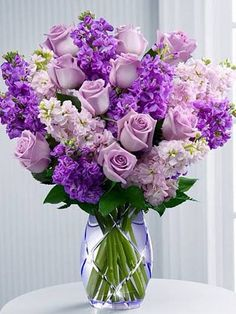 Send bouquet flowers and arrangements from FTD. We provide quick delivery of bouquets, gift baskets, and more. Give a flower bouquet to delight any occasion. Amazing Flowers, Purple Flowers, Beautiful Flowers, Spring Flowers, Colorful Roses, Deco Floral, Arte Floral, Mother's Day Bouquet, Spring Bouquet