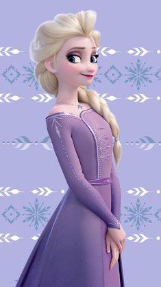 Elsa in her new and beautiful lilac purple dress from Frozen 2 Frozen Disney, Elsa Frozen, Princesa Disney Frozen, Frozen Movie, Frozen Cartoon, Frozen Dress, Frozen Wallpaper, Cute Disney Wallpaper, Purple Wallpaper