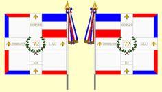 Drapeau du 72ème régiment d'infanterie