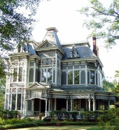 Victorian homes... love the porches on these