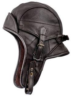 Awesome Sterkowski Genuine Leather Men's 8 Aviator Helmet Trapper Cap