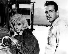 Marilyn Monroe (in her Lee Storm Rider jacket) & Monty Clift (who wore Lee Riders jeans) in John Huston's 1961 film The Misfits.
