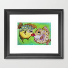 THE CRUSH Framed Art Print by Caribbean Critters Co. - $36.00
