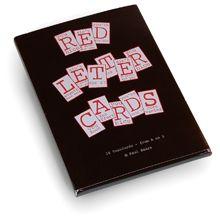 Paul M. Baars (1949). Postcards Folder (Red Letter Cards,) 1986. Contains 26 Postcards - from A to Z © Paul M. Baars (® P.S. items)