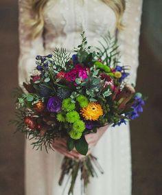 Ramos de novia con colorido