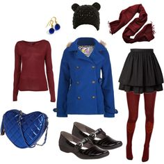"""""""Blueberry and Pomegranate"""" by ebeelove on Polyvore"""