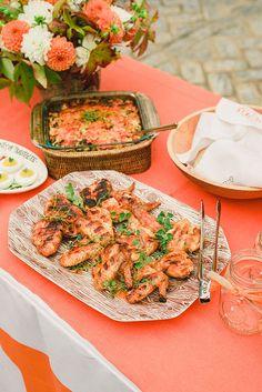 Chicken Wings & Collard Green and Cornbread Casserole