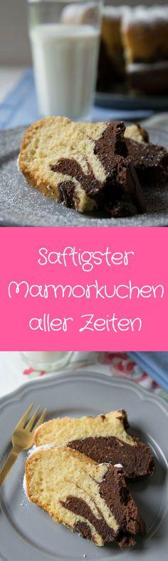 Super leckerer Marmorkuchen - saftig & fluffig