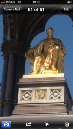 Prince Albert pure gold took nearly 20 years to allow Queen Victoria to make this statue