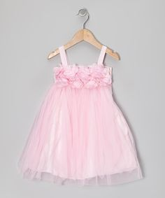 Take a look at this Pink Petal Tulle Babydoll Dress - Toddler & Girls on zulily today!