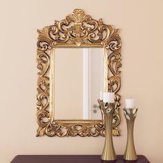 Found it at Wayfair - Antique Gold Wall Mirror 3d Frames, Frames On Wall, Mirror Photo Frames, Rustic Wall Mirrors, Mirrors Wayfair, Vintage Chandelier, Floor Mirror, Unique Furniture, Furniture Ideas
