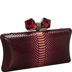 Overture By Judith Leiber Concave Side Ombre Metallic Leather Minaure Antique Gold Wine