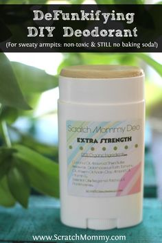 Scratch Mommy's DIY DeFunkifying Deodorant (non-toxic, healthy, effective, & STILL no baking soda!) Scratch Mommy's DeFunkifying DIY Deodorant for Sweaty Armpits Recipe is perfect for anyone struggling to find an effective organic natural deodorant. Diy Deodorant, Coconut Oil Deodorant, Diy Natural Deodorant, Diy Cosmetic, Diy Beauté, Baking Soda Shampoo, Homemade Beauty Products, Natural Products, Body Products