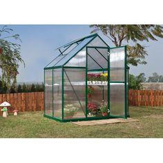 Palram Mythos 6' x 4' Hobby Greenhouse - Silver or Green