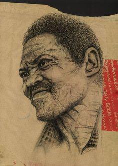Charcoal sketch of a homeless man on the inside of take away bag. Welcome Design, Desktop Publishing, Charcoal Sketch, Homeless Man, Art Studios, Art Direction, Photoshop, Fine Art, Bag