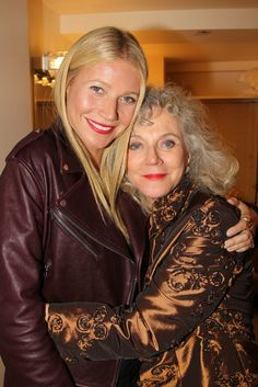 Gwyneth Paltrow gave her mom Blythe Danner a big hug after watching her perform during the opening night of The Country House on Broadway in NYC on Thursday.