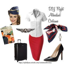 Homemade Halloween Flight Attendant | Pinterest | Homemade halloween Costumes and Halloween costumes  sc 1 st  Pinterest & Homemade Halloween: Flight Attendant | Pinterest | Homemade ...