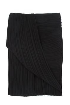Toga Micro Pleat Skirt in black by Dion Lee Line II