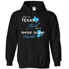 (TXJustXanh001) Just A Texas Girl In A Rhode_Island Wor - #checked shirt #tee design. GET IT => https://www.sunfrog.com/Valentines/-28TXJustXanh001-29-Just-A-Texas-Girl-In-A-Rhode-5FIsland-World-Black-Hoodie.html?68278