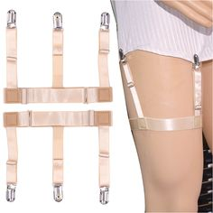 New Hot Mens Shirt Stays Holder Garters Belt Suspender Braces Leg Thigh Elastic Tirantes 1pair Flesh Color Shirt Suspender Suitable For Men And Women Of All Ages In All Seasons Men's Accessories Men's Suspenders