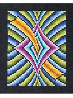 A bargello quilt is defined as using fabric strips in order to give your quilt pattern a look of waves. Description from craftdrawer.com. I searched for this on bing.com/images