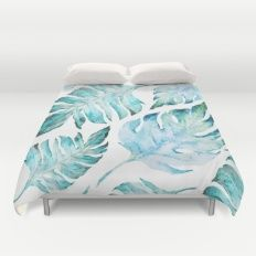 Duvet Cover featuring Love Tropical  by Mark Ashkenazi