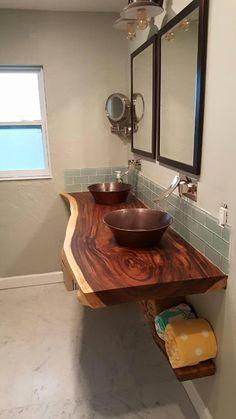 Bathroom decor, Bathroom decoration, Bathroom DIY and Crafts, Bathroom home design Rustic Bathroom Designs, Rustic Bathrooms, Wood Bathroom, Bathroom Interior Design, Bathroom Cabinets, Shower Bathroom, Modern Bathrooms, Industrial Bathroom, Master Bathrooms