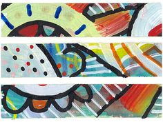 DIY Graffiti Washi Tape---put masking tape on wax paper.  Paint over it.  Pull off for one of a kind washi.